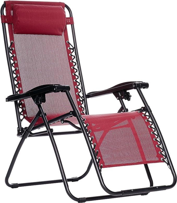 Amazonbasics Reclining Beach Chairs Portable
