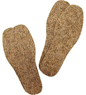 J.T Foote Alaskan Winter Wool Felt insoles  1 Pair sizes 7-13