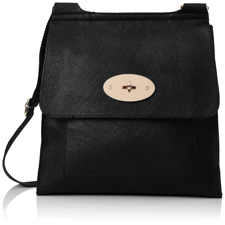 fb4546506d Swanky Swans Womens Amanda Crossbody Cross-Body Bag Black (Black)   Handbags  Amazon.com