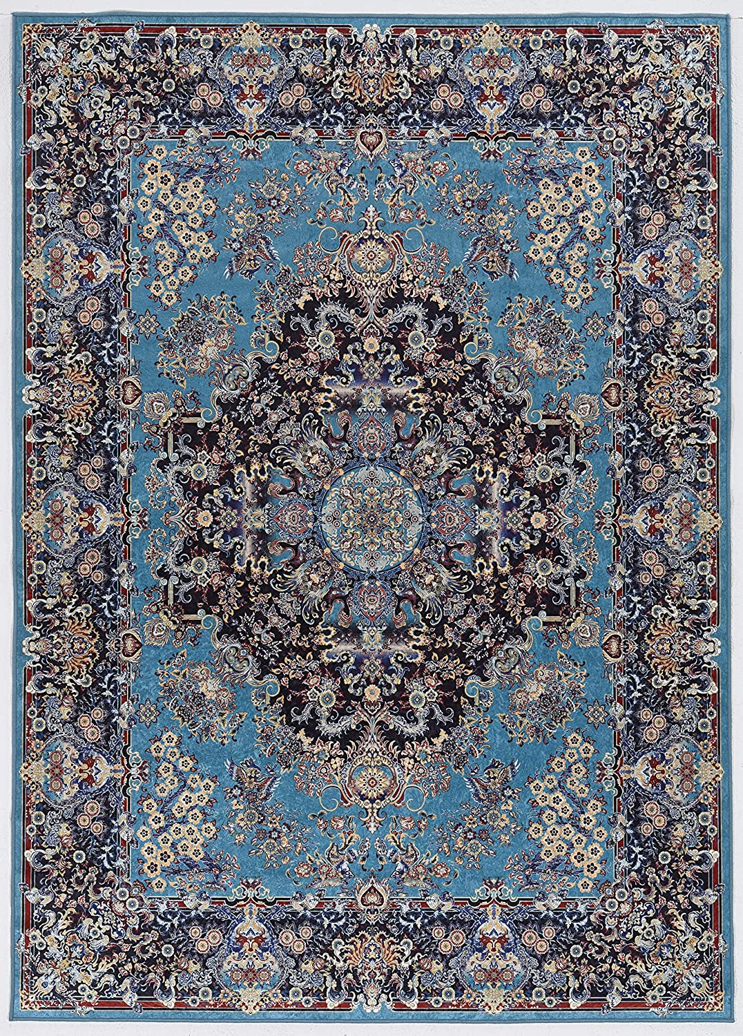Linon Home Decor Products Honora Granger Blue/Navy 5' X 7' Area Rug