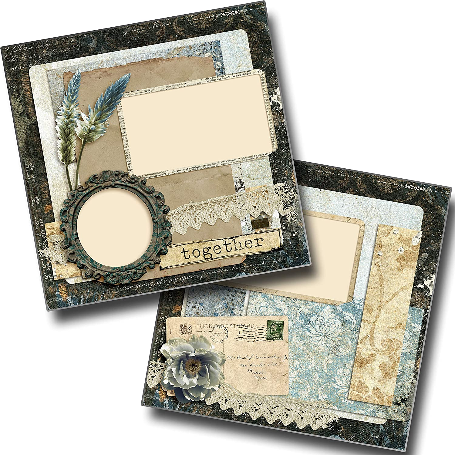 EZ Layout 4584 Vintage Together Premade Scrapbook Pages