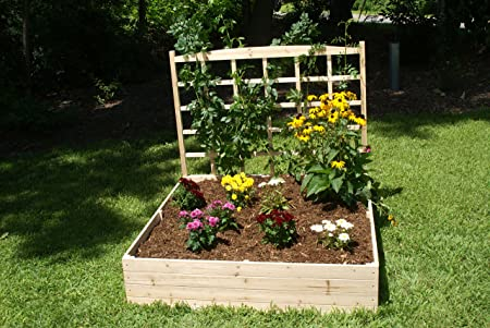 Eden Raised Garden Bed with Trellis with 44