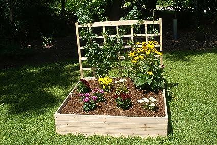 amazon com eden raised garden bed with trellis with 44 trellis 4