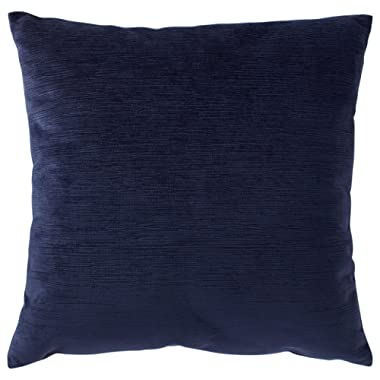 Rivet Velvet Texture Decorative Throw Pillow, 17  x 17 , Midnight