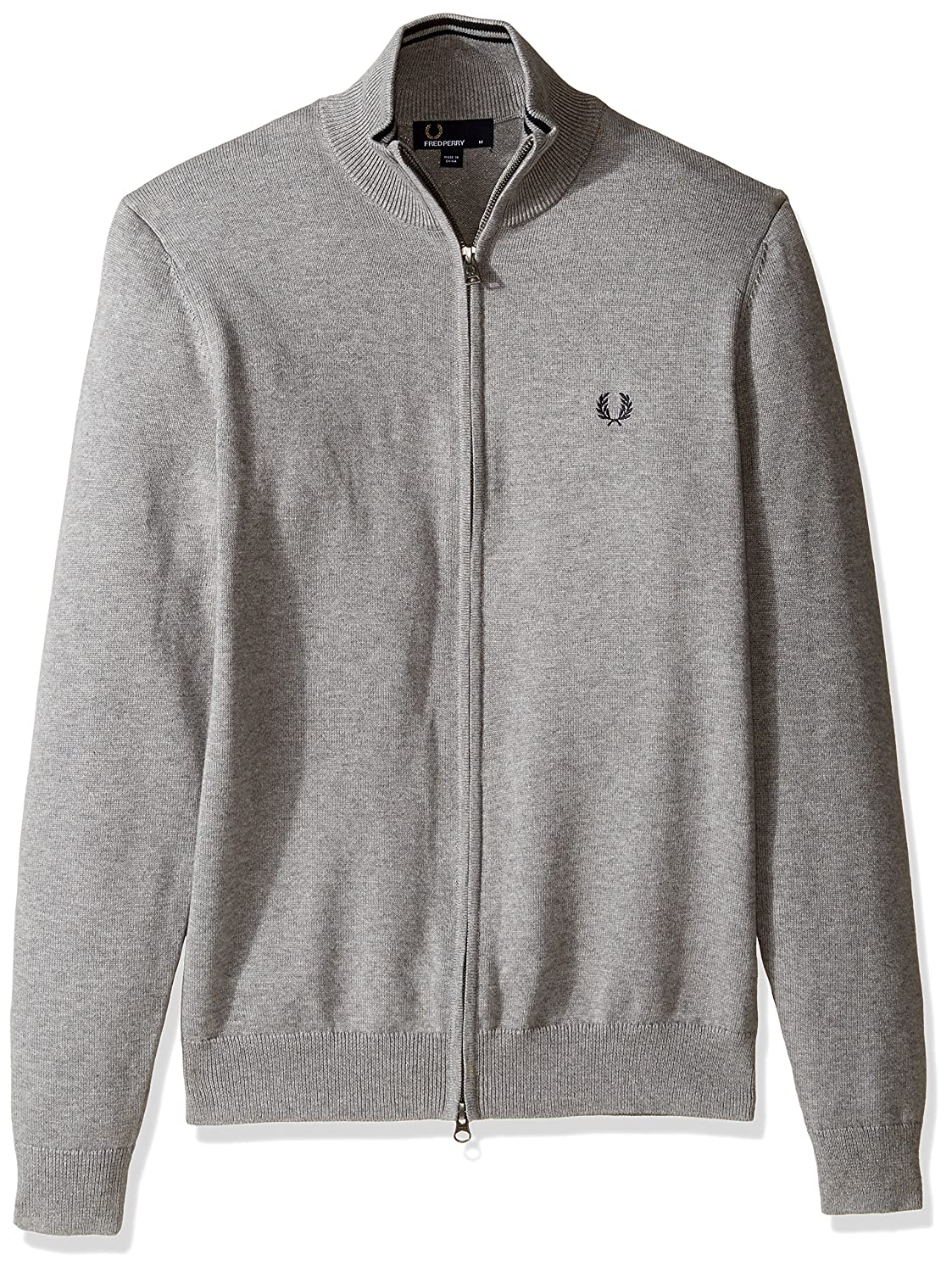 Fred Perry SWEATER メンズ B01MY2Q5GK Large|Steel Marl Steel Marl Large