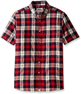 Amazon Com Altamont Men S Slacker Short Sleeve Woven Flannel Shirt