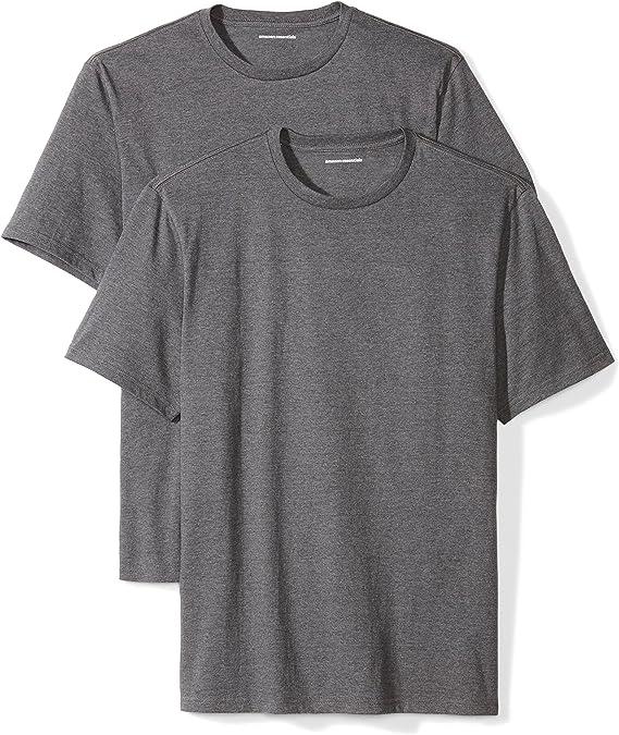 Amazon Essentials Men's 2-Pack Standard-Fit Short-Sleeve Crewneck T-Shirt