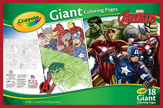 amazoncom crayola avengers assemble giant coloring pages toys games