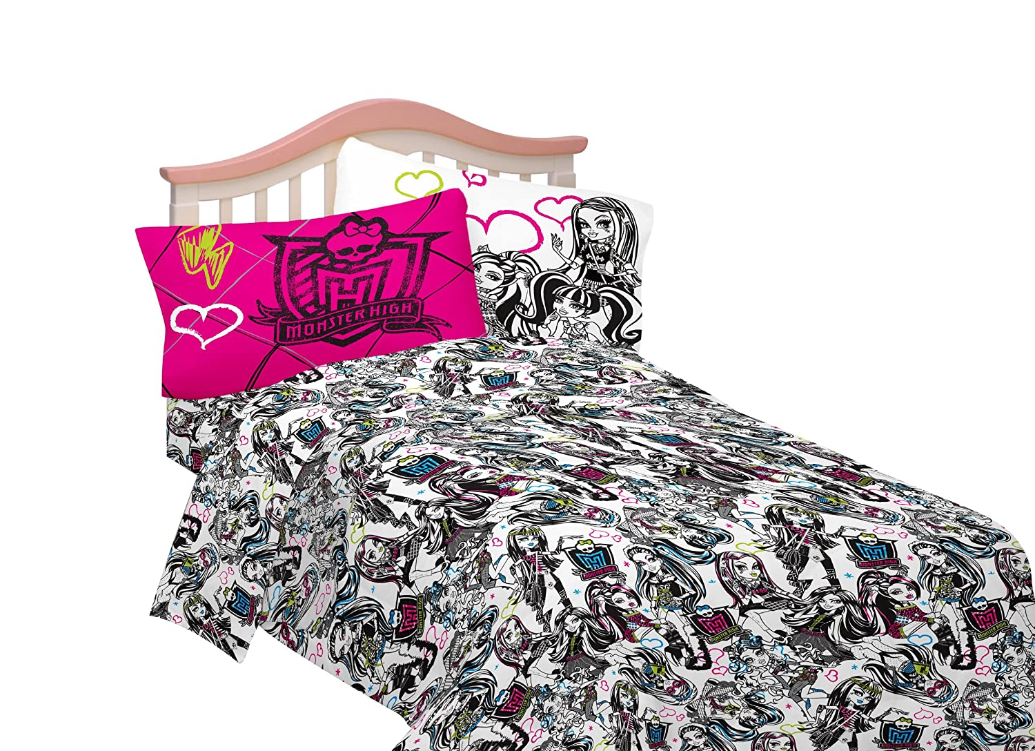 Amazon.com: Mattel Microfiber Sheet Set, Full, Monster High Ghouls Rule:  Home U0026 Kitchen