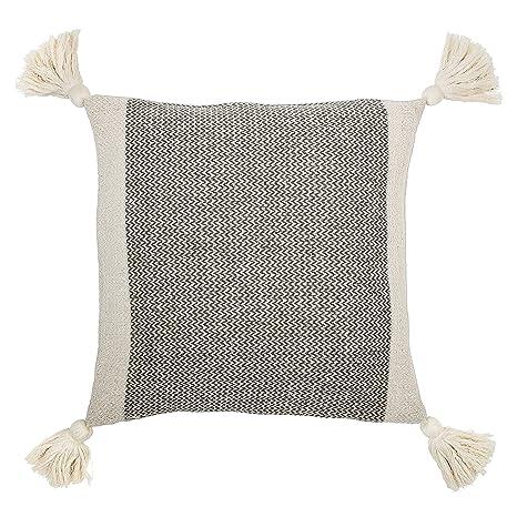 Amazon.com: Bloomingville gris mezcla de algodón cuadrados ...