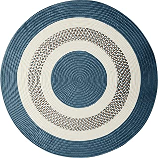"""product image for Crescent Round Area Rug, 8"""", Lake Blue"""