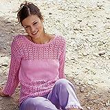 Sommerleicht! Luftigen Damen Pullover selber stricken mit dem Strickset von MyOma mit Wolle Catania von Schachenmayr* Kostenlose Strickanleitung von Schachenmayr* für Größen 36/38 und 40/42* Strickpackung
