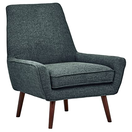 Rivet Jamie Mid Century Low Arm Accent Chair, 31u0026quot; W, Marine Blue