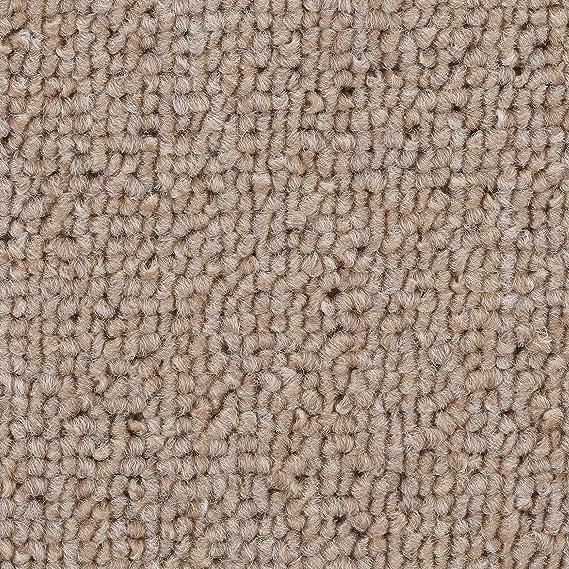 BODENMEISTER BM72181 Teppichboden Auslegware Meterware Schlinge braun beige 200 400 und 500 cm breit Variante: verschiedene L/ängen 5 x 5 m 300