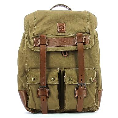 020bc78b6c Men's Shoulder Bag BELSTAFF 75610374 Colonial Backpack Man Mountain Brown  Canvas