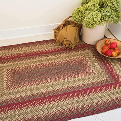 Homespice Cider Barn Premium Braided Jute Rug, 5 x 8 Rectangle Red Color, Reversible Imported Jute Yarn, Higher Quality, Longer Lasting, Longer Wear – 30 Day Risk Free Purchase