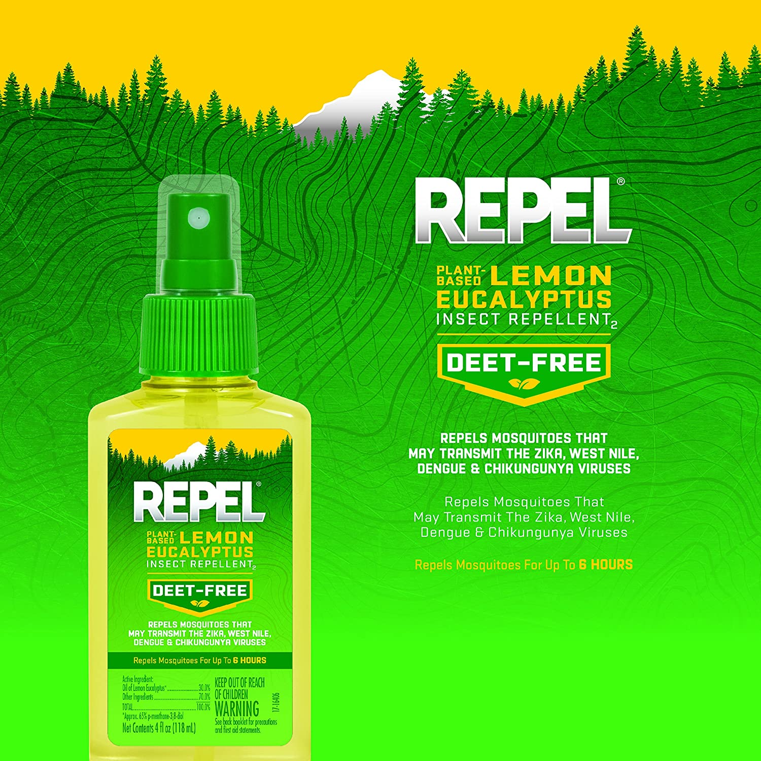 Repel Lemon Eucalyptus Natural Insect Mosquito Repellent