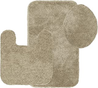 product image for Maples Rugs ColorSoft Non Slip Washable & Quick Dry Soft 3-Piece Bathroom Rugs Set [Made in USA], 3pc, Clay Beige