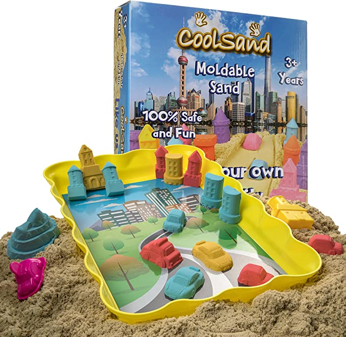 Moldable Indoor Play Sand in Resealable Bag Neon Green Refill Pack CoolSand 2 lb