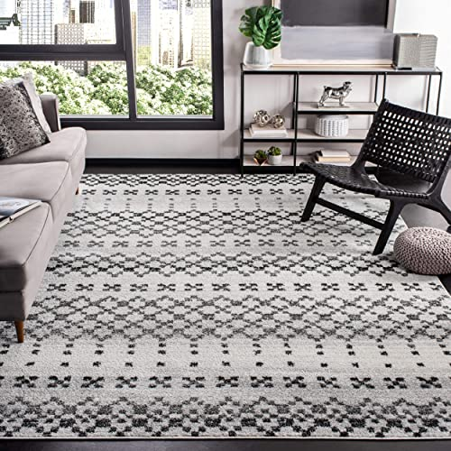 Safavieh Adirondack Collection ADR220G Grey and Ivory Area 8' x 10' Rug