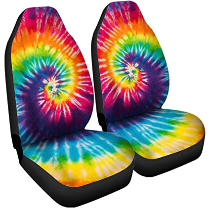 Gnarly Tees Tie Dye Car Seat Covers