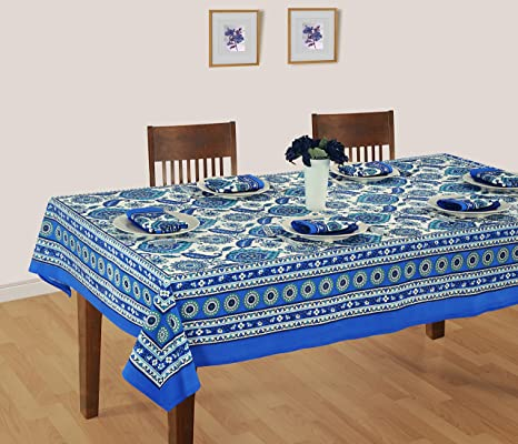 ShalinIndia Manteles para mesas de 6 sillas – Mesa Décoration Mantel Rectangular 58 x 88 cm