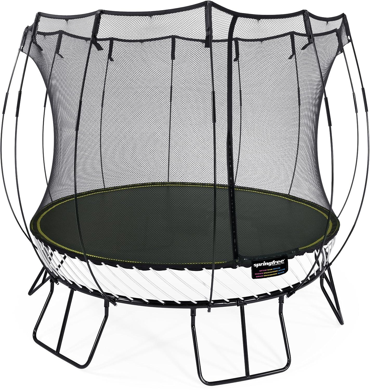 Springfree Trampolin R79 - Medium Round Ø 300 cm Reine Sprungfläche (Entspricht Durchmesser 365 cm) inkl. Netz