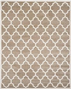 Safavieh Newport Collection NPTS742B Garden Trellis Wheat and Cream Area Rug (8' x 10')