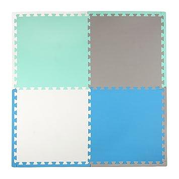 Blue//Turquoise Tadpoles 24 Playmat 4 Piece Set 50 x 50