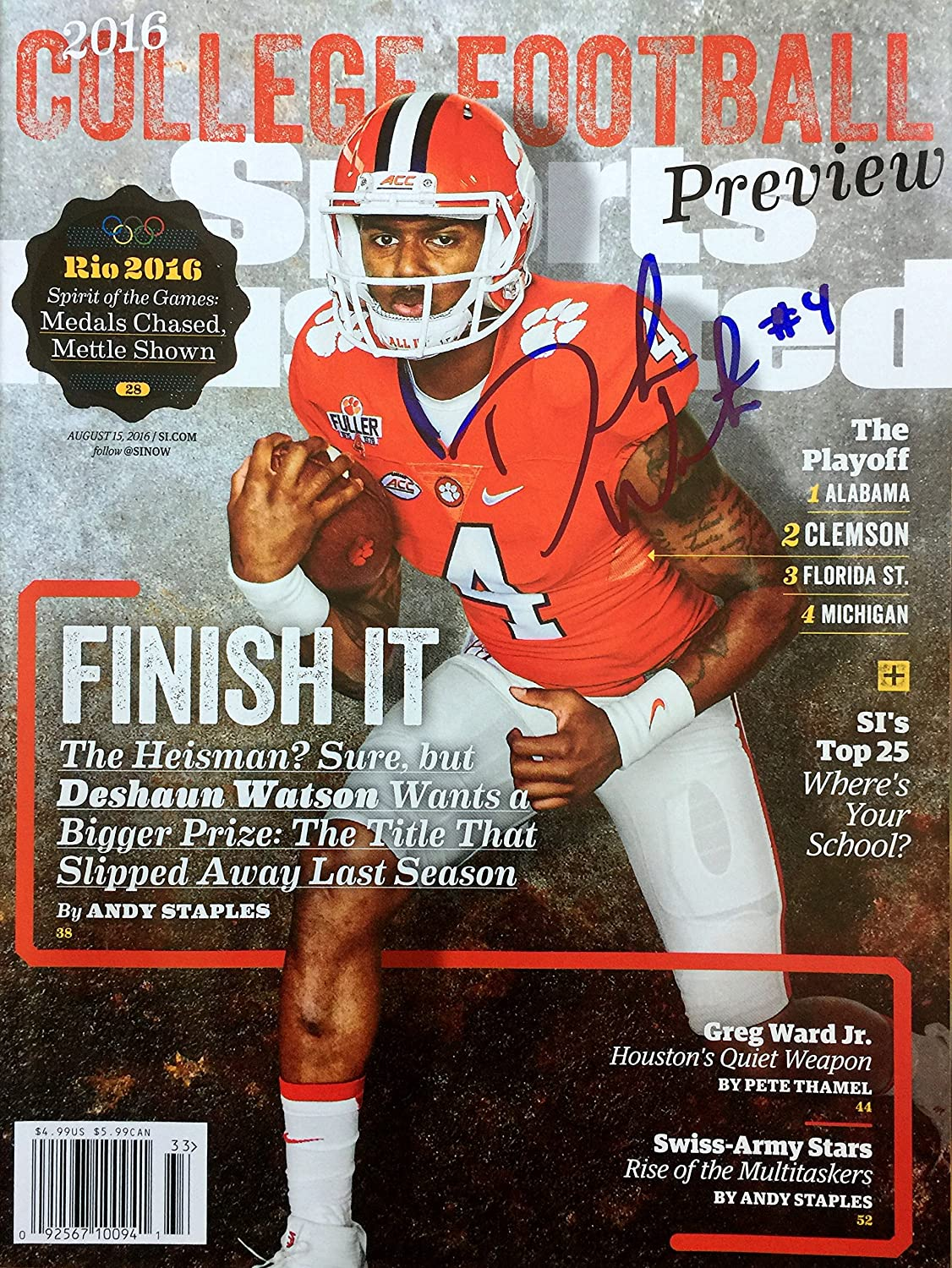 Deshaun Watson Clemson Tigers Autographed Sports Illustrated