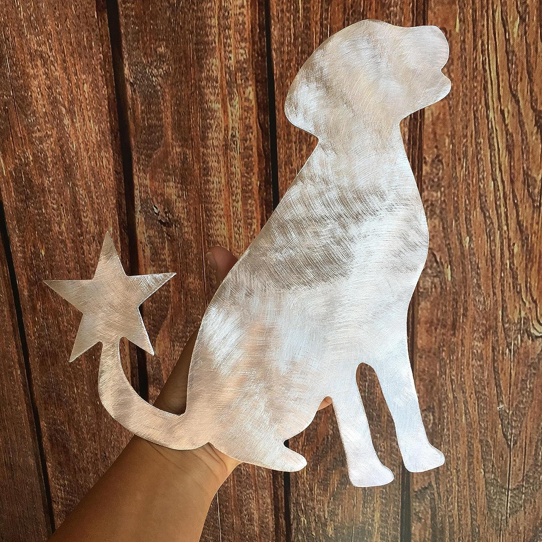 Sitting Lab PT Hudson Alumi-Art Labrador Retriever Dog Christmas Tree Topper