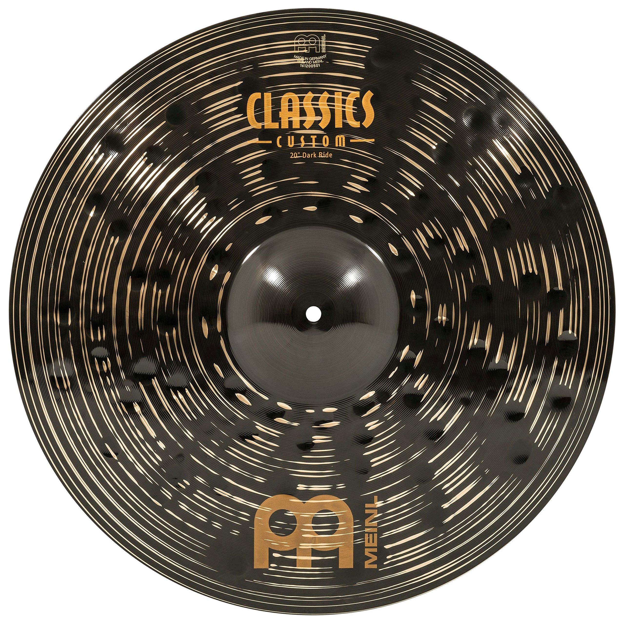 Meinl 20'' Ride Cymbal - Classics Custom Dark - Made in Germany, 2-YEAR WARRANTY (CC20DAR)