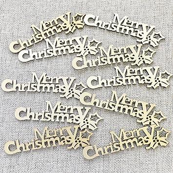 """Konfetti-Worte mit der Aufschrift """"Merry Christmas"""", 90 mm Holz ..."""