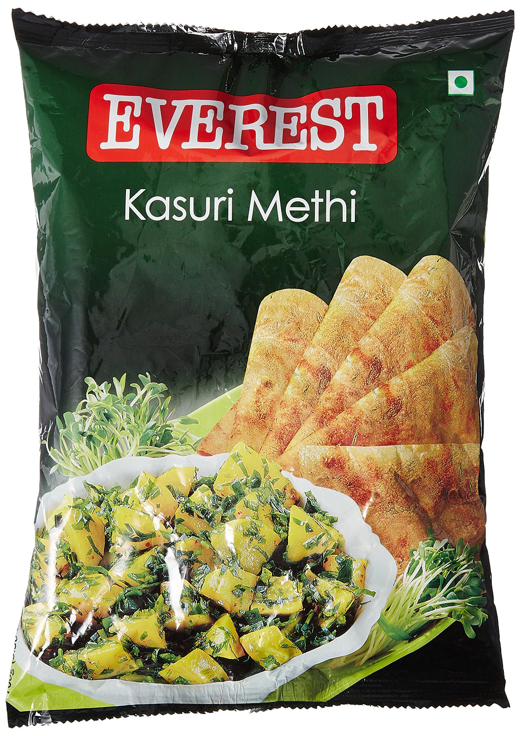 Amazon Com Everest Kasuri Methi 100 Grams Pouch 3 5 Oz India Kasuri Methi Leaves Grocery Gourmet Food