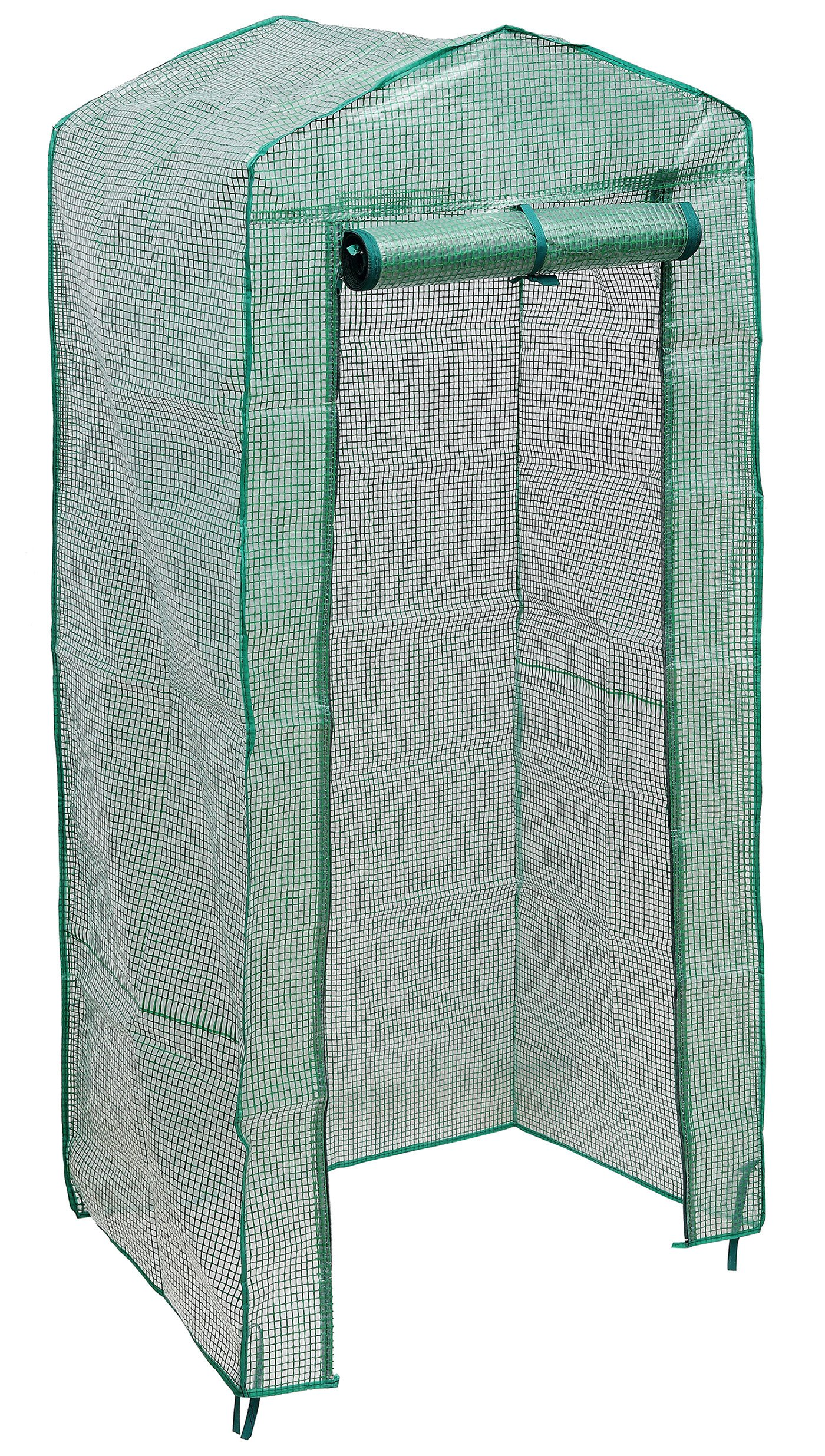NKTM 4-Tier Mini Greenhouse Replacement Cover,Outdoor Compact Walk-in Greenhouse 27'' Long x 18'' Wide x 63'' High(FRAM NOT Include) by NKTM