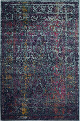 Safavieh Granada Collection GRA351C Blue and Multi Area Rug, 5 1 x 7 6