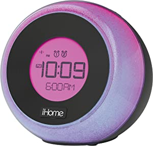 iHome iBT290B Bluetooth Color Changing Dual Alarm FM Clock Radio with Speakerphone & USB Charging - Featuring Melody, Voice Powered Music Assistant