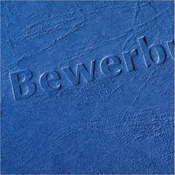 Herlitz 10416709 Bewerbungsmappe A4 RC-Karton Express-Clip bordeaux bordeaux 5er Packung 30 Blatt