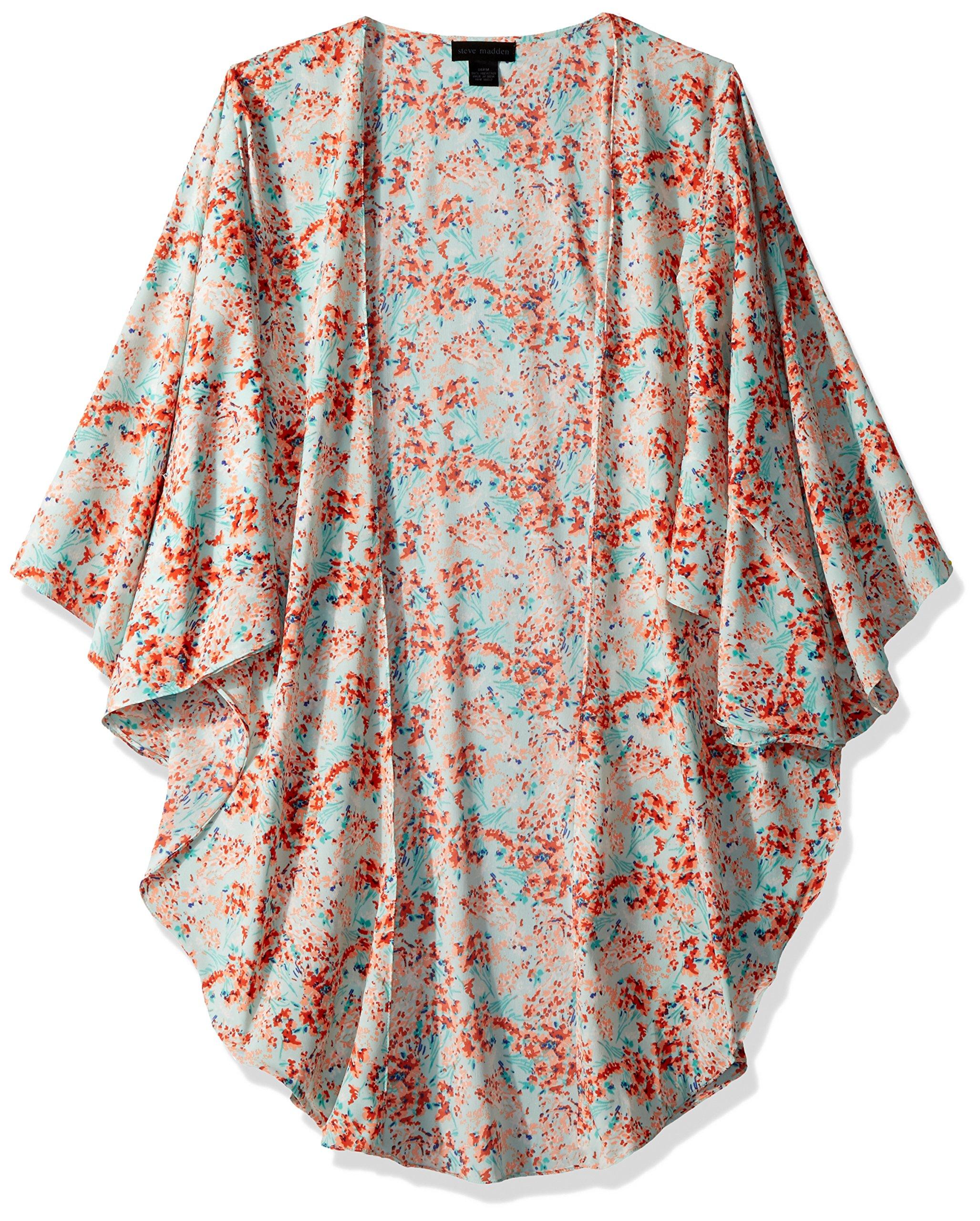 Steve Madden Women's Spring Breeze LUX Kimono Accessory, Seafoam, One Size by Steve Madden