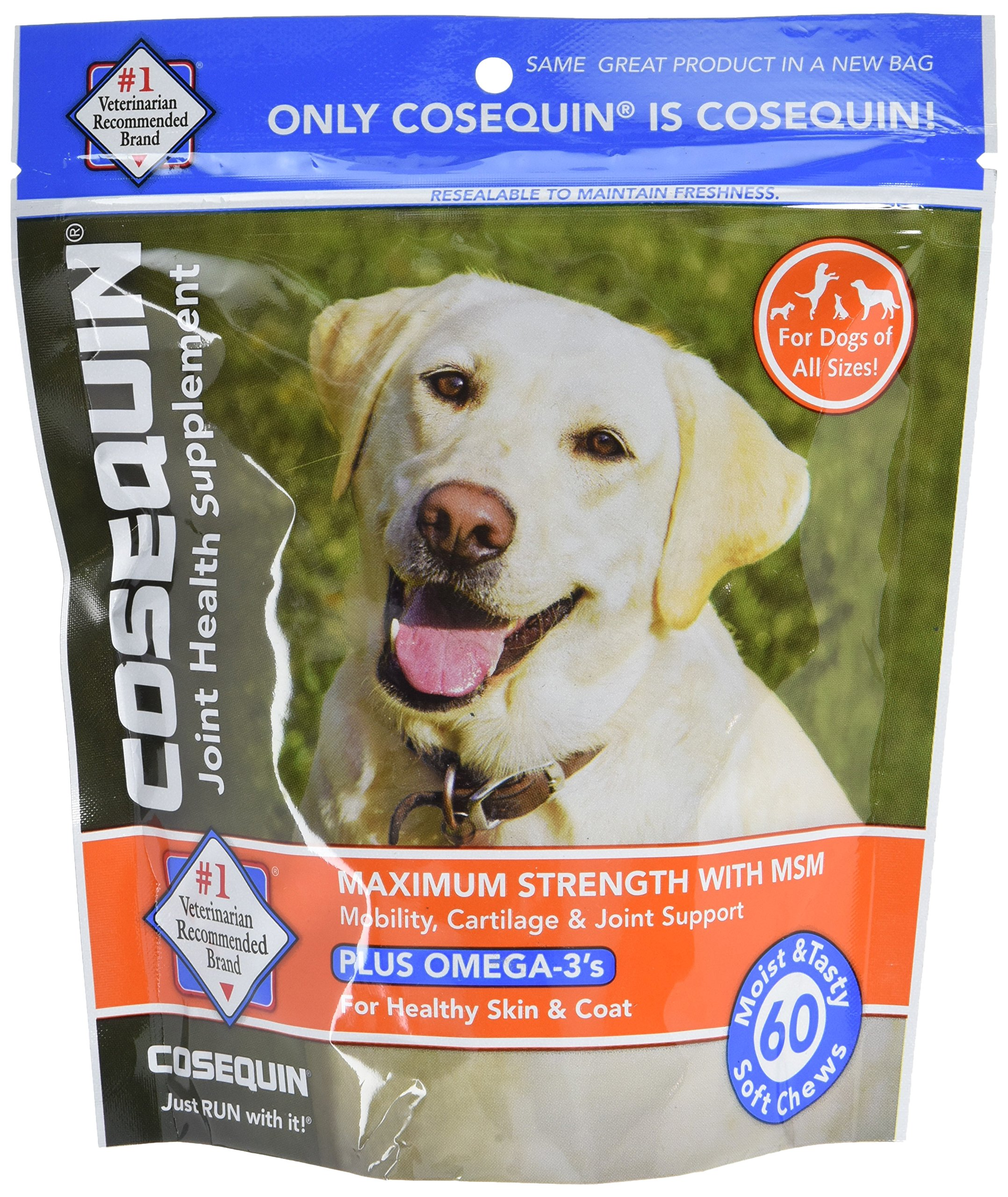 Cosequin Soft Chews with MSM and Omega 3-s, 60ct