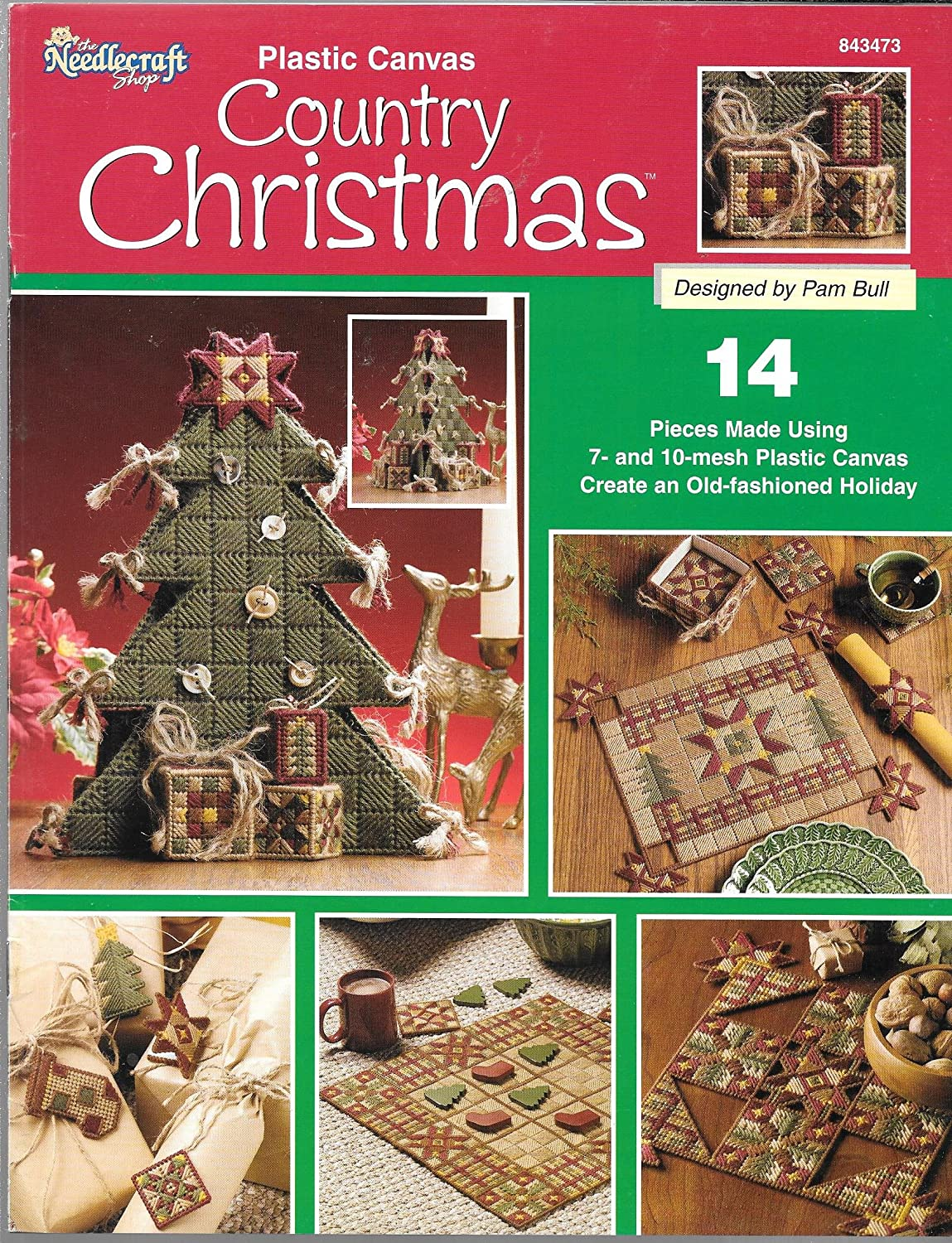 Plastic Canvas Country Christmas by The Needlecraft Shop (Leaflet 843473)
