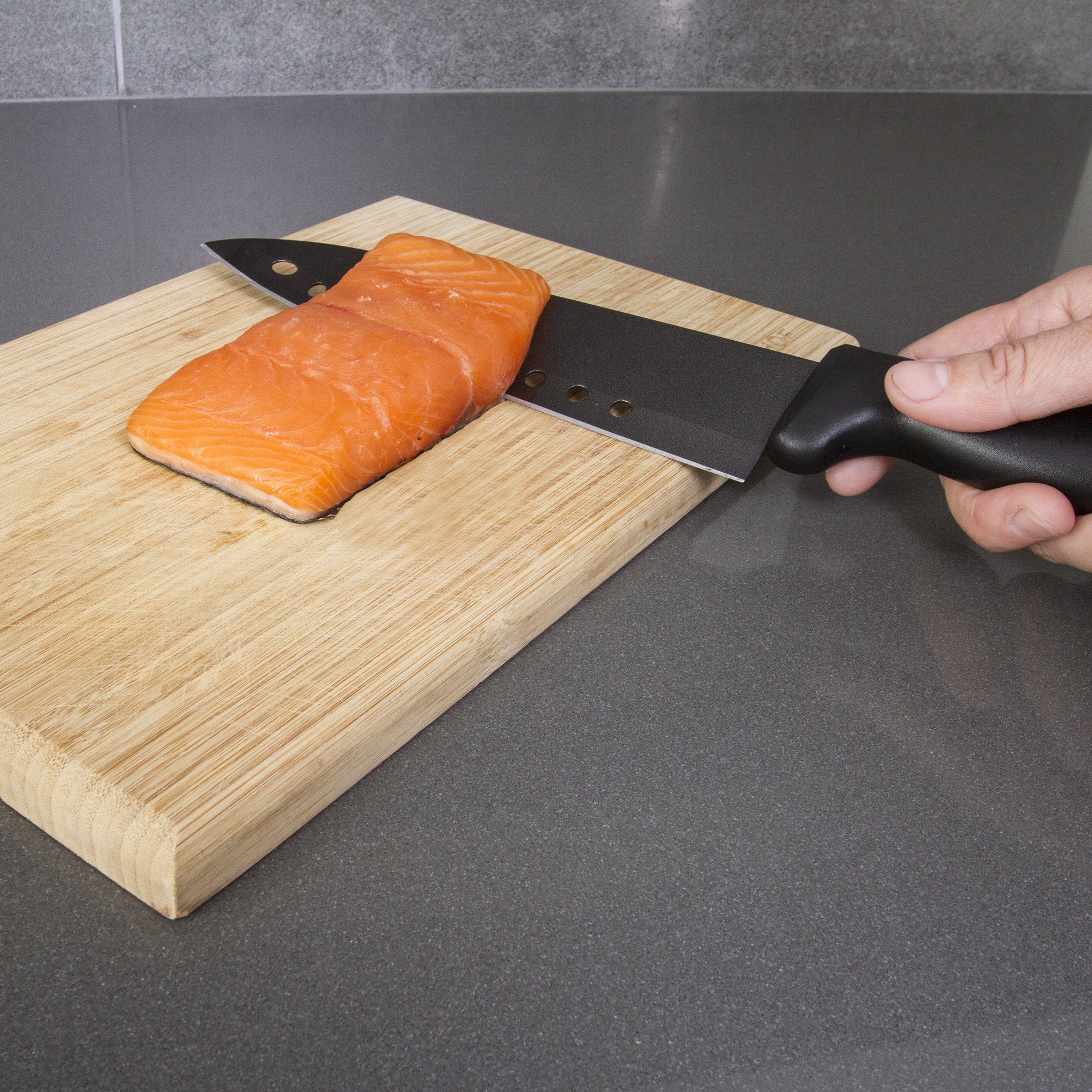 Kitchen + Home Non Stick Sushi Knife - The Original 8 inch Stainless Steel Non Stick Multipurpose Chef Knife by Kitchen + Home (Image #3)