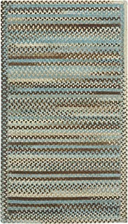 """product image for Capel Rugs Kill Devil Hill Cross Sewn Rectangle Braided Area Rug, 9 x 9"""", Tan Hues"""