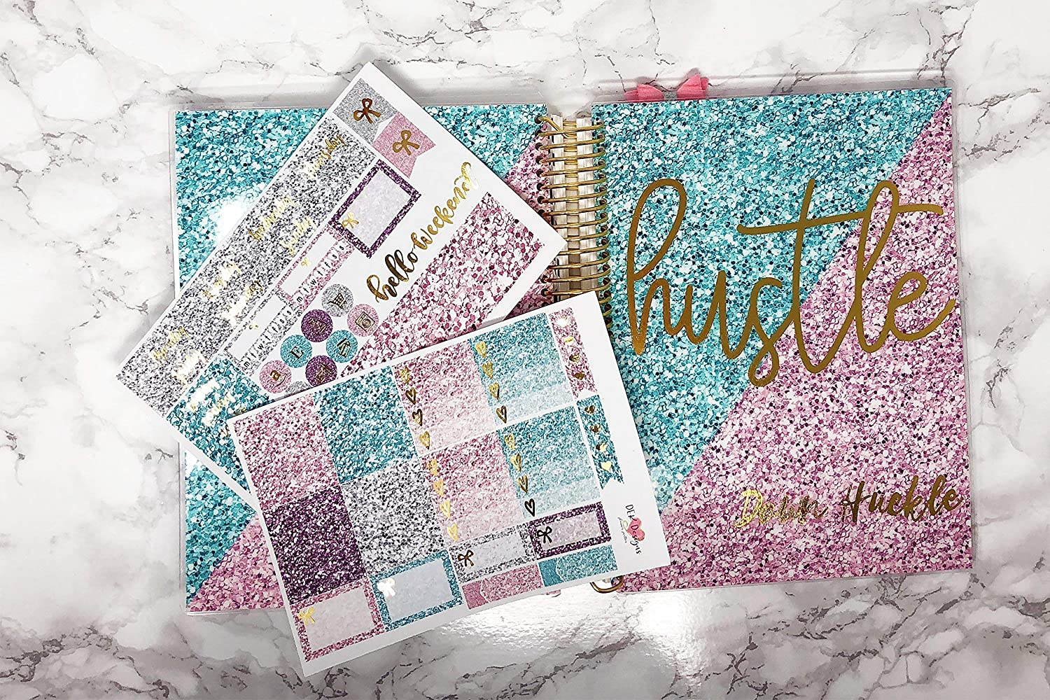 Interchangeable Planner Cover custom name with sticker kit