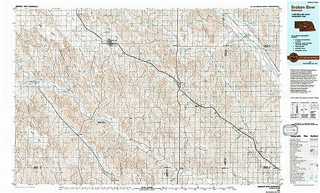 Amazon Com Yellowmaps Broken Bow Ne Topo Map 1 100000 Scale 30 X