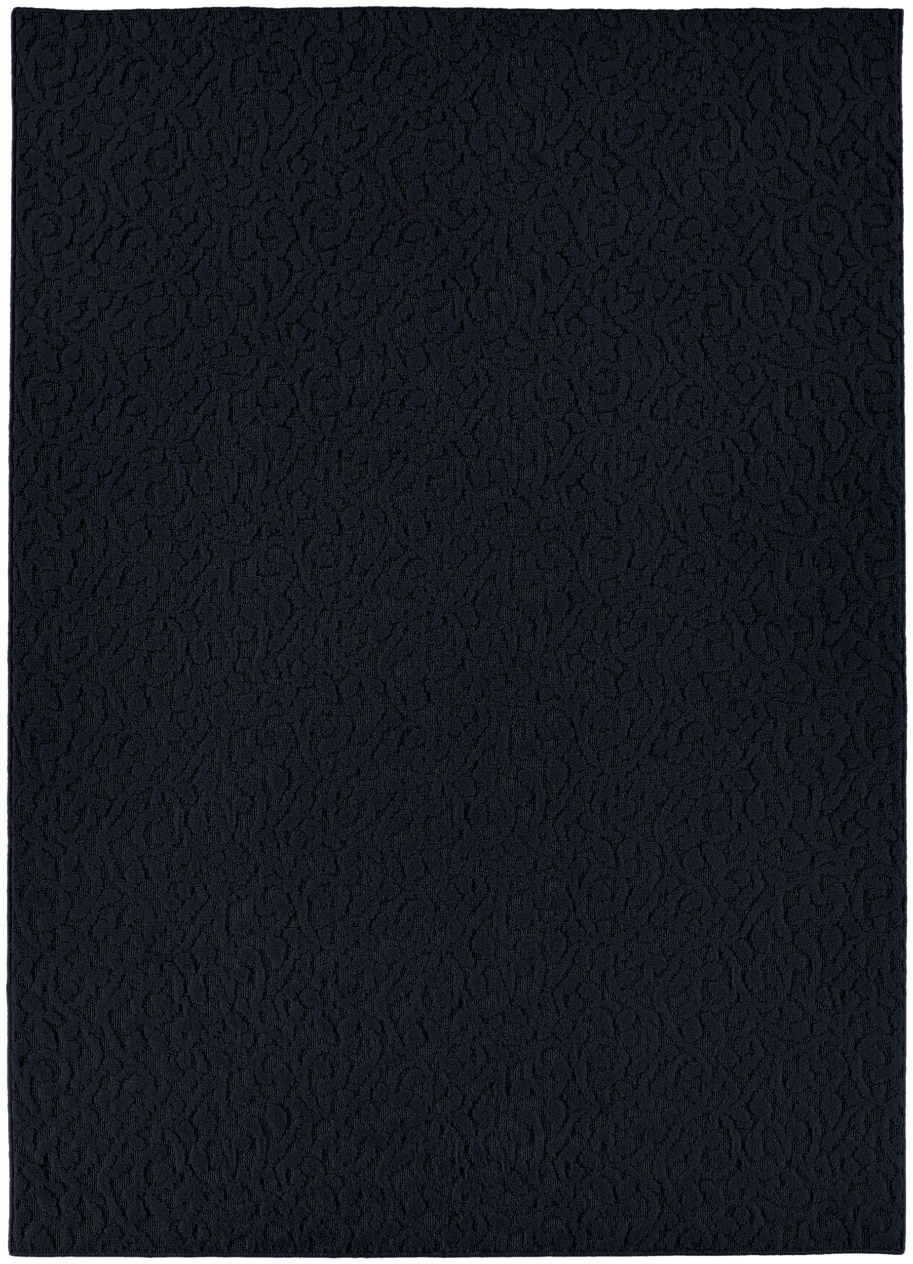 Garland Rug Ivy Area Rug, 6-Feet by 9-Feet, Navy