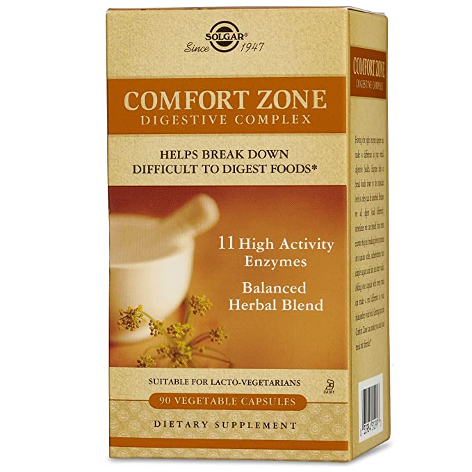 Solgar Comfort Zone Digestive Complex Cápsulas vegetales - Envase de 90