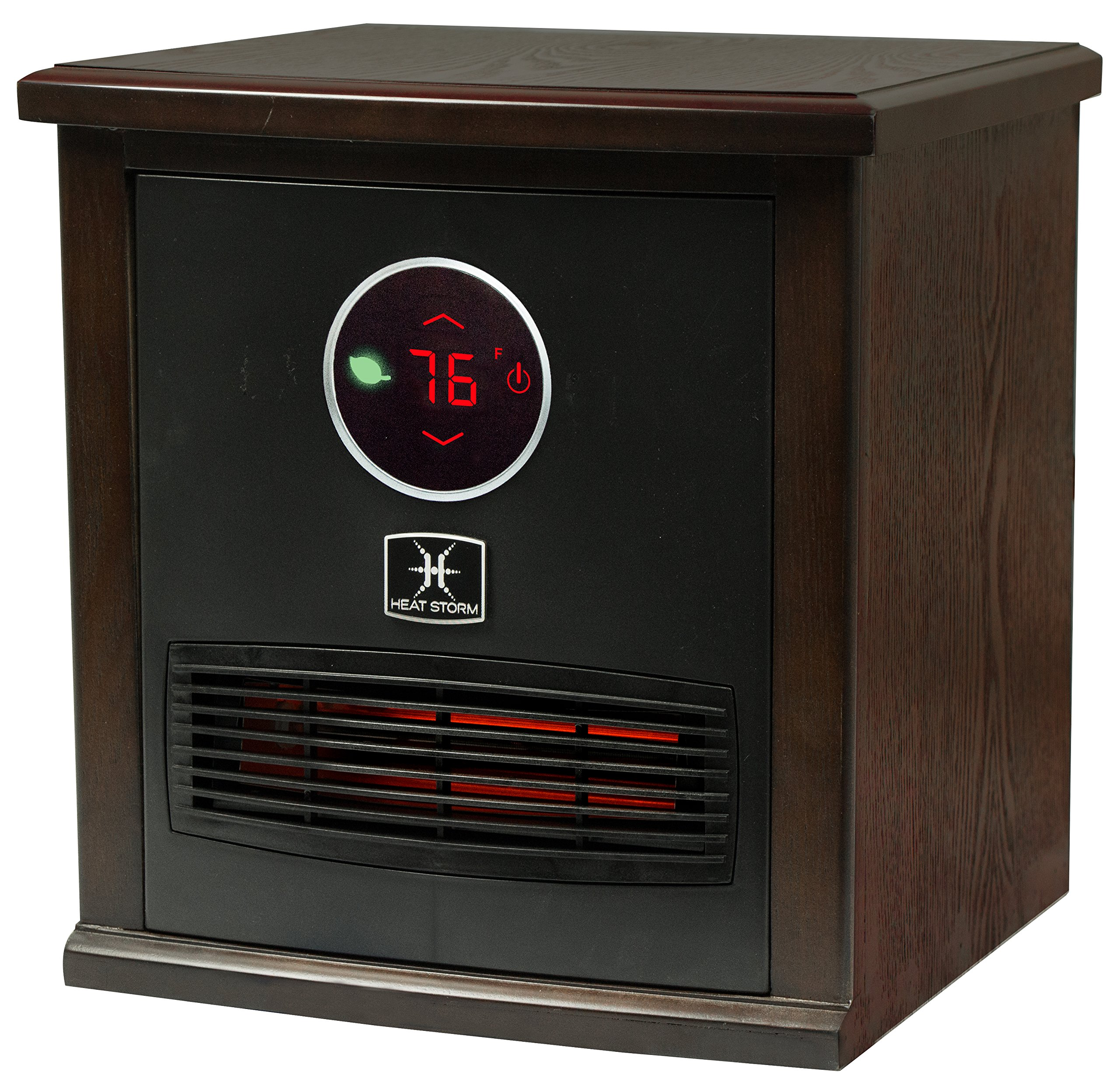 Heat Storm Smithfield Classic Indoor Portable Infrared Space Heater - 1500 Watt - Stylish - Built in Thermostat & Overheat Sensor - Remote Control - Perfect For Any Room