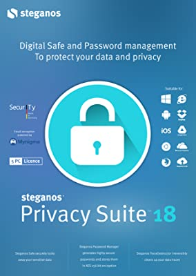 Steganos Privacy Suite 18 - Effective protection for your data and password! Windows 10, 8, 7, Vista, XP (32-/64-bit) [Download]