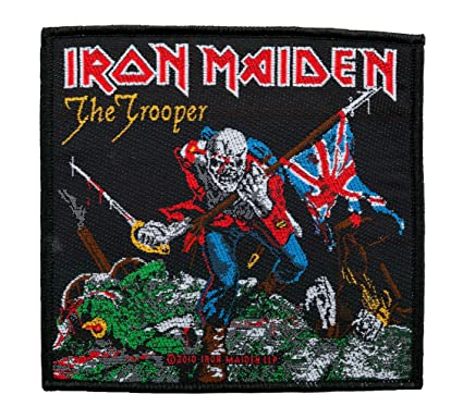Unbekannt Iron Maiden parche – The Trooper – Iron Maiden Patch – tejida & licencia oficial